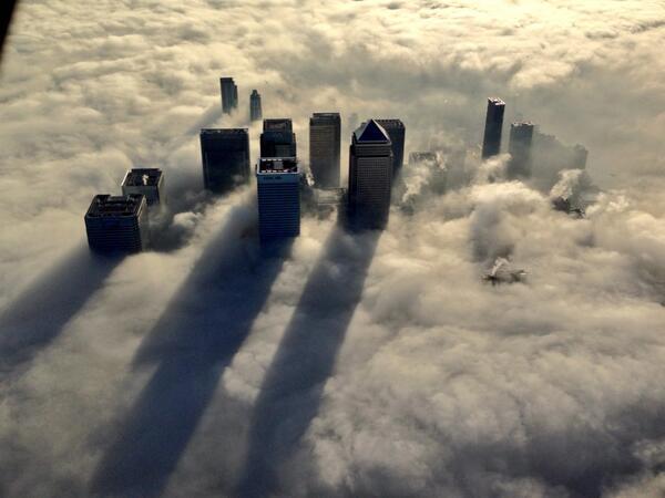 Fotografia de Londres vista do céu