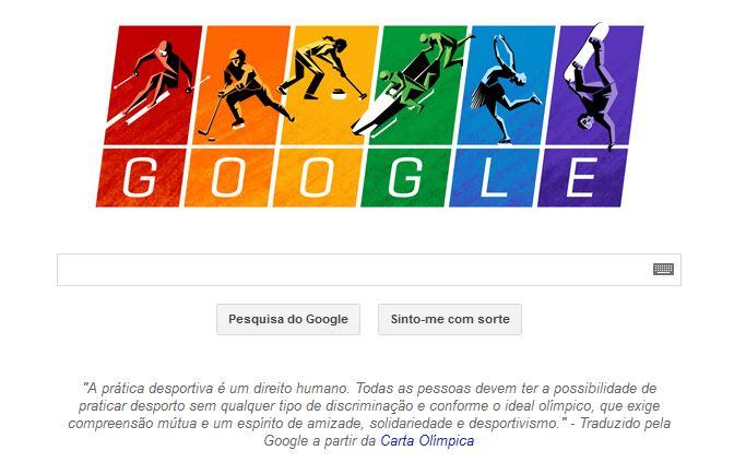 Logótipo da Google para os Jogos Olímpicos Sochi