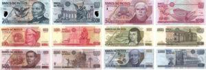 O peso mexicano é a moeda do  Mexico