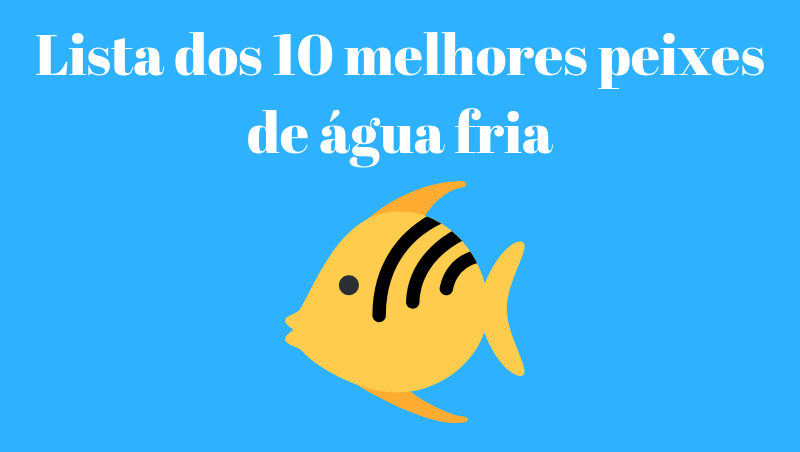 Lista dos 10 melhores peixes de agua fria
